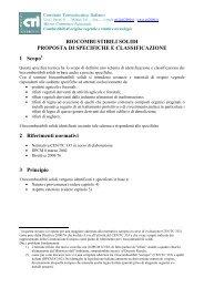 BIOCOMBUSTIBILI SOLIDI PROPOSTA DI SPECIFICHE E ... - Fiper