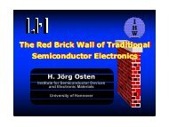 The Red Brick Wall of Traditional Semiconductor Electronics The ...