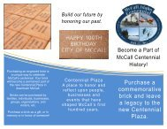 Centennial Plaza Brick Order Form - The City of McCall