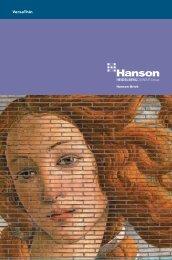 VersaThin Brochure - Hanson Brick