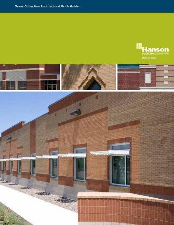 Texas Collection Architectural Brick Guide - Hanson Brick