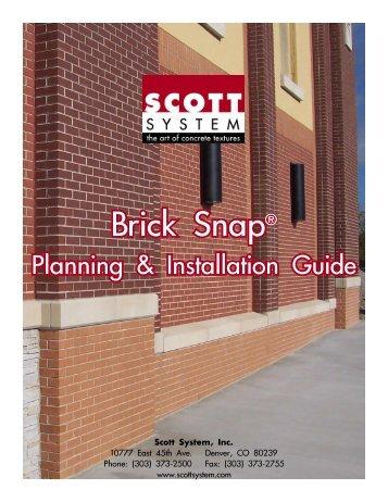 Brick Snap® Installation Guide (pdf) - Scott System