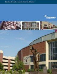 Carolina Collection Architectural Brick Guide - Hanson Brick