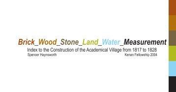 Brick_Wood_Stone_Land_Water_Measurement - University of Virginia