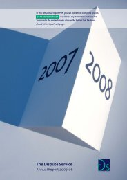 TDS Annual Review 2008 - Tenancy Deposit Scheme