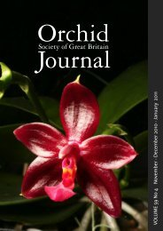 The Orchid Society of Great Britain