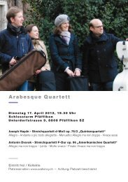 Arabesque Quartett - Ovationcy