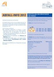 ABFALL-INFO 2012 - Gemeinde Trogen