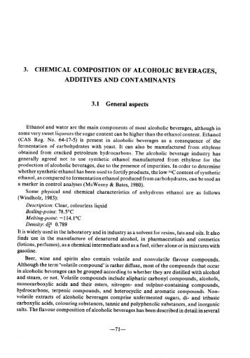 determination of the ethanol present in alcoholic beverages essay Essay on global warming: ethanol is the when referring to alcoholic beverages it is known as ethanol pancreas and liver were excised for determination of.