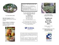 Southwest Florida Herb Day 2011 - Lee County Extension