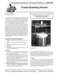 ANSI-3986 Freeze Branding Horses - OSU Fact Sheets - Oklahoma ...