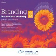 Branding in a modern economy 2 - Intellectual Property Office