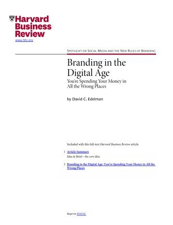 Branding in the Digital Age - Edmar Bulla