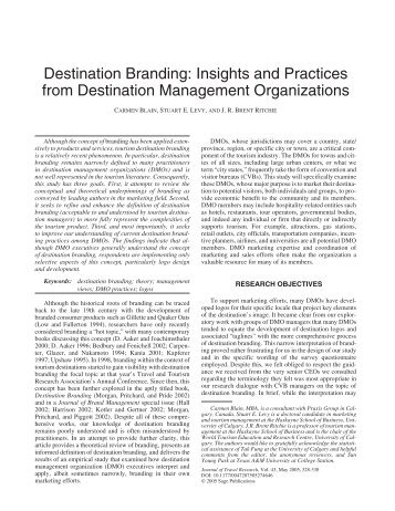 perception of destination branding measures Perception of a destination: medical tourism index mti measures the performance of 30 countries in four primary dimensions and destination branding.