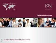 BNIÆ Branding Standards - BNI® Marketing
