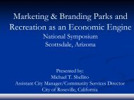 Marketing & Branding Parks and Recreation as an ... - City of Sanger