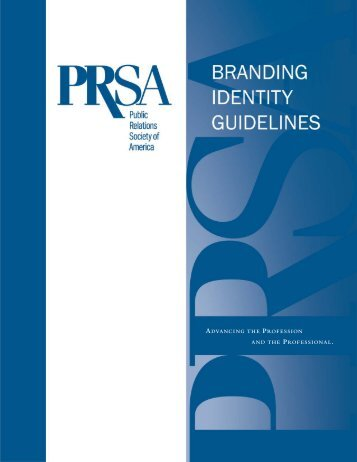 Branding Identity Guidelines - Public Relations Society of America
