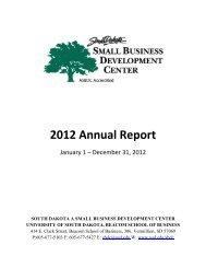 2012 Annual Report - The University of South Dakota