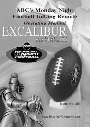201 (MA) monfootjami071504.pdf - Excalibur Electronics