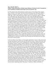 Mary BACHVAROVA Homer's Iliad and the Hurro-Hittite Song of ...