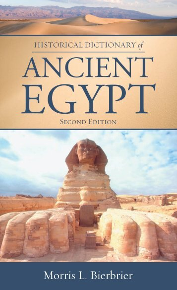 Historical Dictionary of Ancient Egypt (Historical Dictionaries of ...