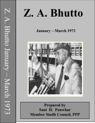 Speeches, Interviews & Messages; Jan - March 1973 - Bhutto