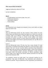 FRN v Usman (2012) CLR 3(d) (SC) Judgement delivered on March ...