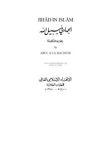 Jihad in Islam - Muhammadanism