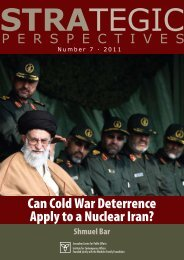 Can Cold War Deterrence Apply to a Nuclear Iran? - Jerusalem ...