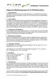 Allgemeine Mietbedingungen für FLYER-Elektrobikes