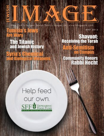 Front cover.indd 1 4/26/2012 3:11:06 PM - Jewish Image Magazine