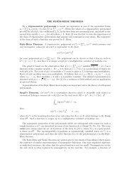 THE FEJÉR-RIESZ THEOREM By a trigonometric polynomial is ...