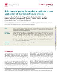 Selective-site pacing in paediatric patients: a new ... - EP Europace