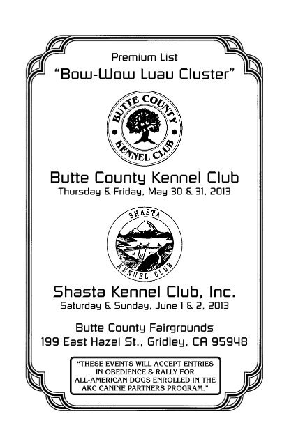 Butte County Kennel Club Shasta Inc