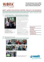 Work Education Newsletter September 2009 - NMIT