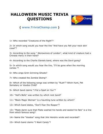 POP MUSIC TRIVIA QUESTIONS VII - Trivia Champ