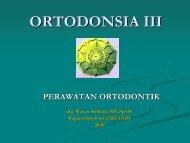 ORTODONSIA III - drg. wayan