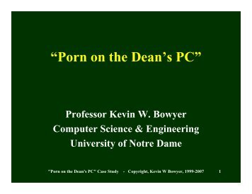 """Porn on the Dean's PC"" - School of Computing and Information ..."