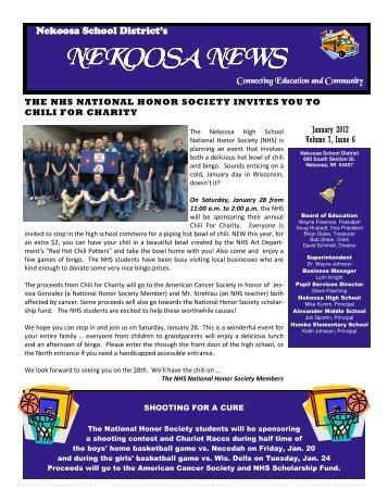 Newsletter January2012.pub - School District of Nekoosa