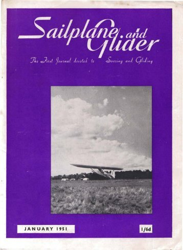Sailplane & Glider 1951 - Lakes Gliding Club