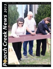 April 2013 Newsletter - The Poarch Band of Creek Indians