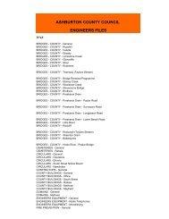 Engineer's Files - Ashburton District Council