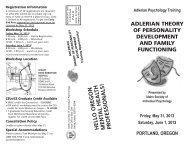 Brochure - Idaho Society of Individual Psychology