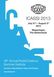 ICASSI 2013 - North American Society of Adlerian Psychology