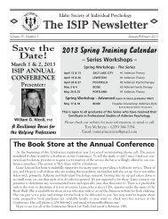 Jan/Feb - 2013 - Idaho Society of Individual Psychology