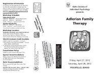 Adlerian Family Therapy - Idaho Society of Individual Psychology