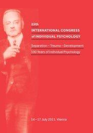 25th INTERNATIONAL CONGRESS of INDIVIDUAL PSYCHOLOGY ...