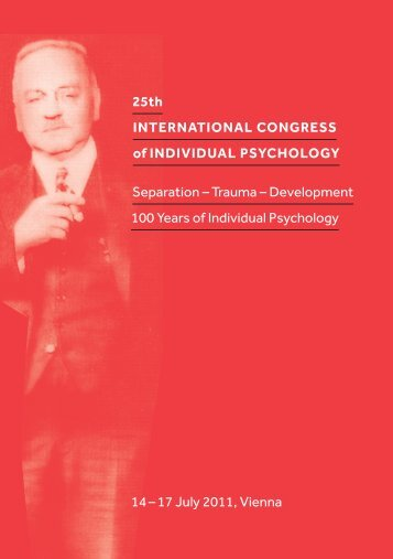 25th INTERNATIONAL CONGRESS of INDIVIDUAL PSYCHOLOGY ...