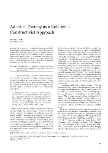 adlerian theory summary