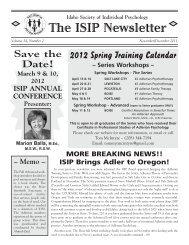 Nov/Dec - 2011 - Idaho Society of Individual Psychology